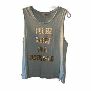 Express Blue Prosecco Graphic Tank Med